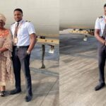 Nigerian Pilot Excited As He Flies His Mum For The First Time To Her Destination [Photos] 27
