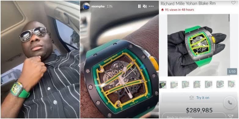 Nigerian Big Boy, Mompha Show Off His Richard Millie Wristwatch Worth N118 Million [Video] 1
