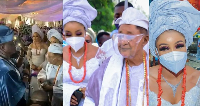 82-Year-Old Alaafin Of Oyo Steps Out With His 13th New Wife, Chioma Adeyemi [Photos/Video] 1