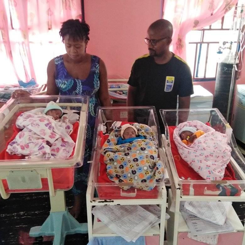 Nigerian Woman, Samuel Regina Gives Birth To Triplets After 11 Years Of Marriage [Photos] 3