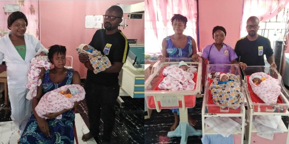 Nigerian Woman, Samuel Regina Gives Birth To Triplets After 11 Years Of Marriage [Photos] 1