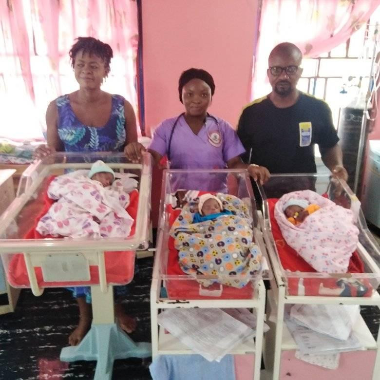 Nigerian Woman, Samuel Regina Gives Birth To Triplets After 11 Years Of Marriage [Photos] 4