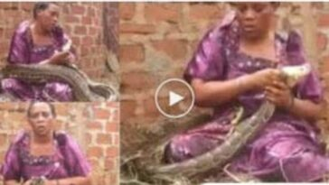 Woman Caught Breastfeeding A Giant Snake While Calling The Names Of Her Enemies 7