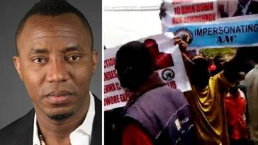 Omoyele Sowore Clashes With Members Of His AAC Party At INEC Headquarters In Abuja [Video] 6
