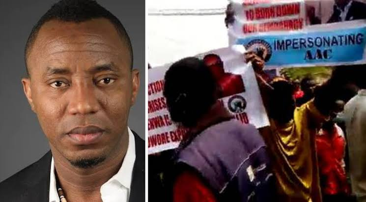 Omoyele Sowore Clashes With Members Of His AAC Party At INEC Headquarters In Abuja [Video] 1