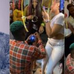 Singer, Skales Feeling Nervous As He Proposes To His Girlfriend At Her Birthday Party [Video] 29