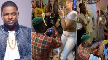 Singer, Skales Feeling Nervous As He Proposes To His Girlfriend At Her Birthday Party [Video] 5