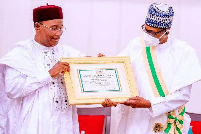 Niger Republic Awards Buhari Because Of His Determination To Move Africa Forward 1