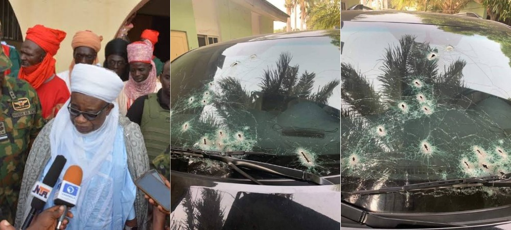 Bandits Opens Fire On Emir Of Birnin Gwari's Convoy In Kaduna [Photos] 1