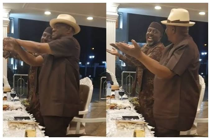 Governor Nyesom Wike And Senator Rochas Okorocha Seen Dancing At Public Gathering [Video] 1