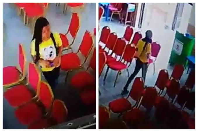 Lady Caught On CCTV Camera Stealing Phone Inside Living Faith Church In Warri [Video] 1