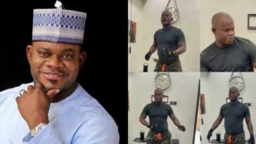 Kogi Governor, Yahaya Bello Seen Dancing To 'APC Song' During His Workout [Video] 1