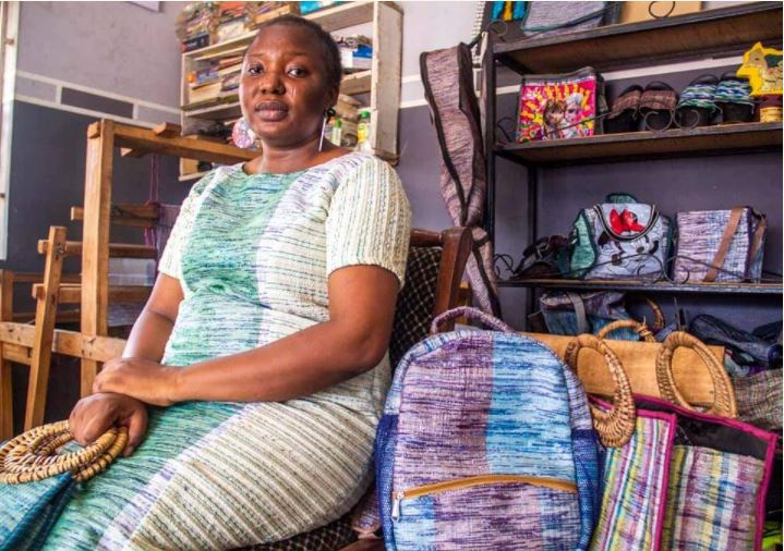 Meet Adejoke Lasisi, Who Makes Beautiful Clothes, Bags, Shoes From Satchet Water Nylons 3