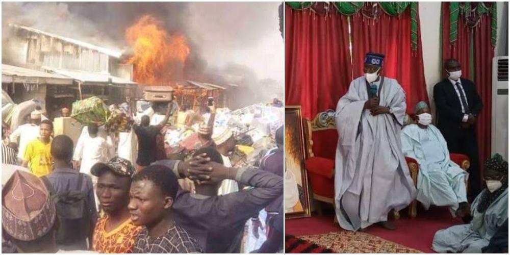 Bola Tinubu Donates N50 Million To Victims Of Katsina Central Market Fire Incident 1