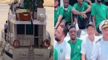 Nigeria's Super Eagles Arrives Benin Republic By Boats Ahead Of AFCON Qualifiers [Photos/Video] 6