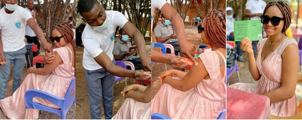 Actress Regina Daniels Takes COVID-19 Vaccine Shot, Says No Side Effects [Photos/Video] 1