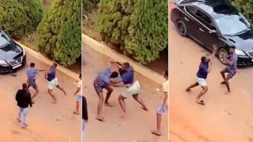 Two University Students Caught On Camera Fighting Publicly Over A Girl In Ghana [Video] 9