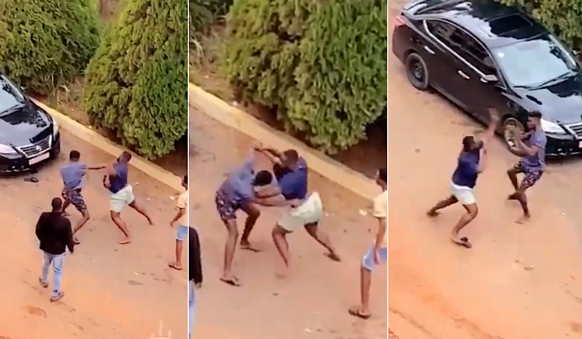 Two University Students Caught On Camera Fighting Publicly Over A Girl In Ghana [Video] 1