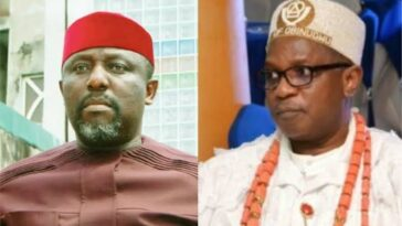Imo Monarch Allegedly Attacks Rochas Okorocha With His Walking Stick Inside An Airplane 5