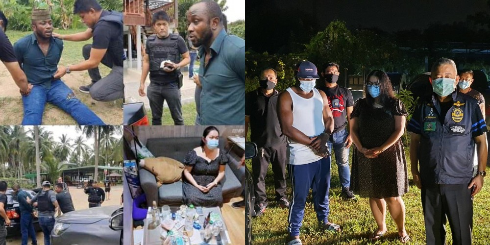 Nigerian Man And His Girlfriend Arrested In Thailand For Allegedly Peddling Cocaine [Photos] 1