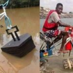 Student Builds Floating Bicycle For Kids Living In Riverine Areas [Photos] 9