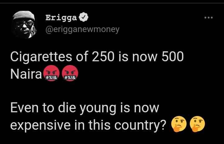 """""""Even To Die Young Is Now Expensive In This County"""" - Rapper, Erigga Laments About Nigeria 2"""