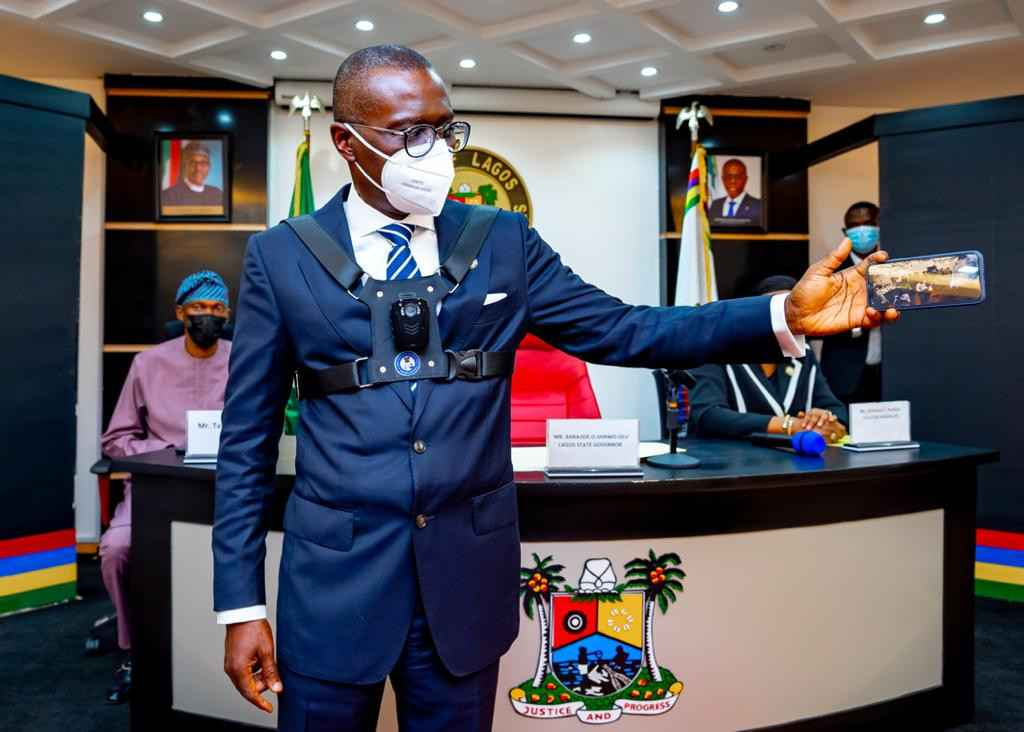 Governor Sanwo-Olu Unveils Body Cameras To Be Worn By Security Personnel In Lagos [Photos] 1