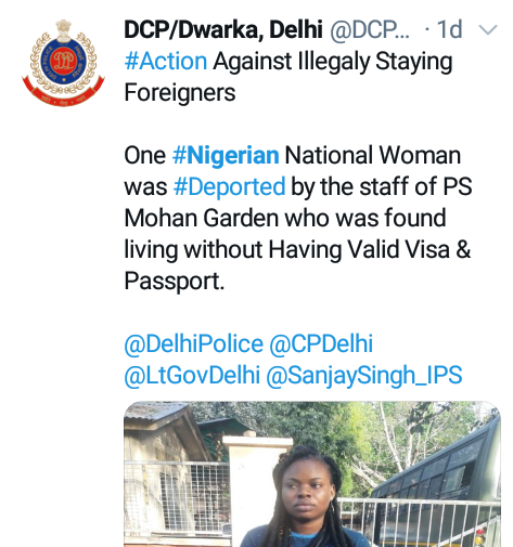India Deports Nigerian Woman After She Was Found Living Without Valid Visa And Passport 2