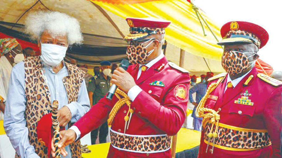 """If You Abuse Your Uniform, Ogun Will Strike You"" - Wole Soyinka Warns Amotekun Operatives 4"
