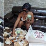 Nigerian Lady Flaunts N24m In Foreign Currency Her Boyfriend Gave Her As Birthday Gift [Video] 28