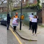 """Medical Trip: Reno Omokri Leads Protest To """"Harass President Buhari Out Of London"""" [Video] 28"""