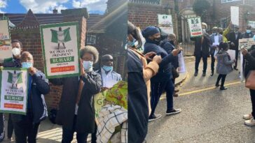 President Buhari's Supporters Hold Prayers For Him At Nigeria House In London [Photos] 5