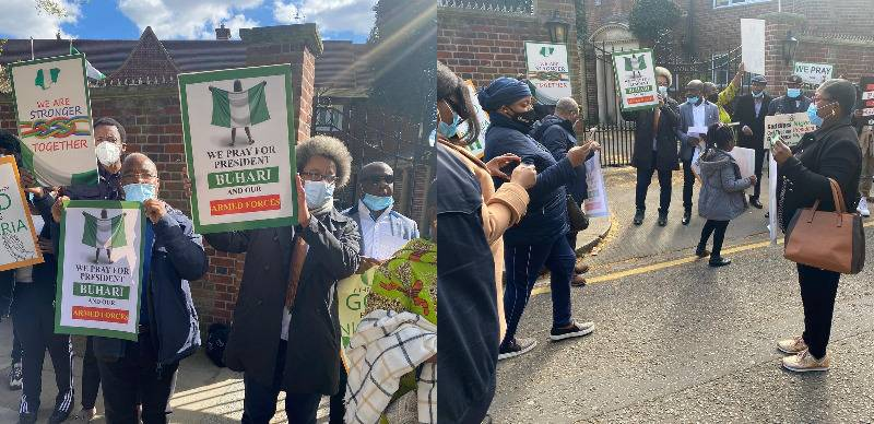 President Buhari's Supporters Hold Prayers For Him At Nigeria House In London [Photos] 1