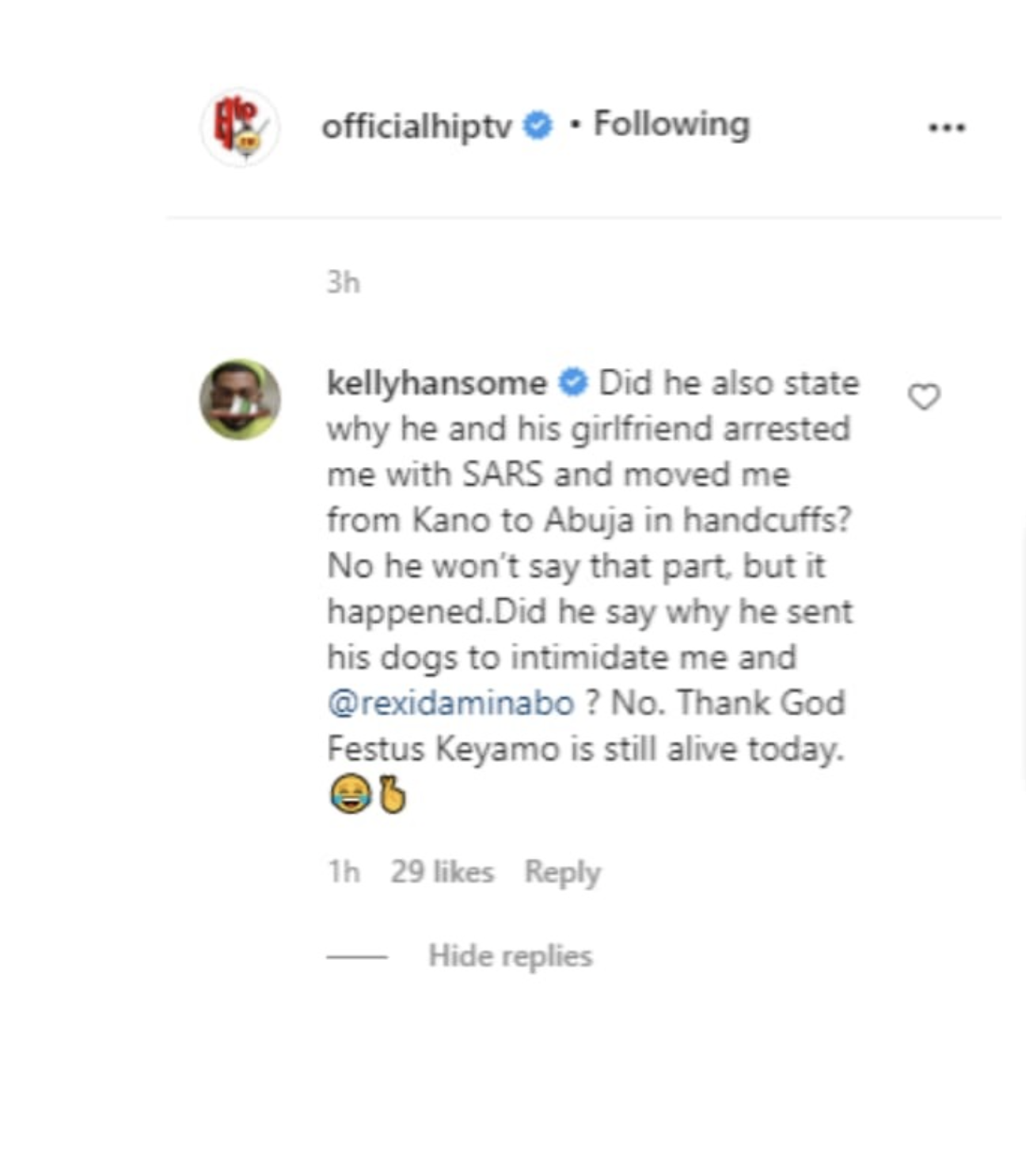 Kelly Hansome Accuses Don Jazzy Of Arresting Him With SARS, Intimidating Him With Dogs 2