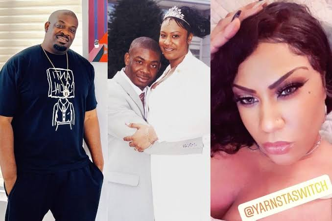 Don Jazzy's Ex-Wife, Michelle Reveals Why She Looks Taller Than Him In Their Wedding Photo 1