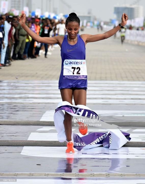 Ethiopia's Meseret Dinke Wins Female Category Of 2021 Lagos City Marathon [Video] 2