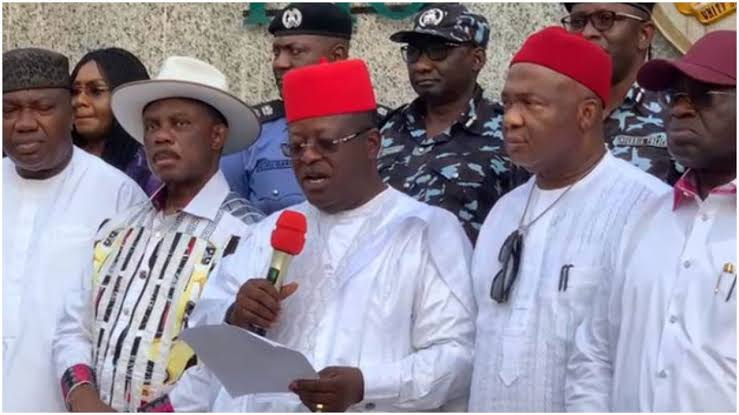 """South-East Governors Establish New Outfit """"Ebube Agu"""" To Tackle Insecurity In The Region 1"""