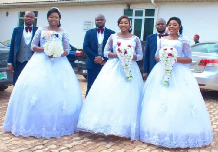 Triplets Who Married Same Day In Enugu, Welcome Baby Boys Within Same Period [Photos] 2