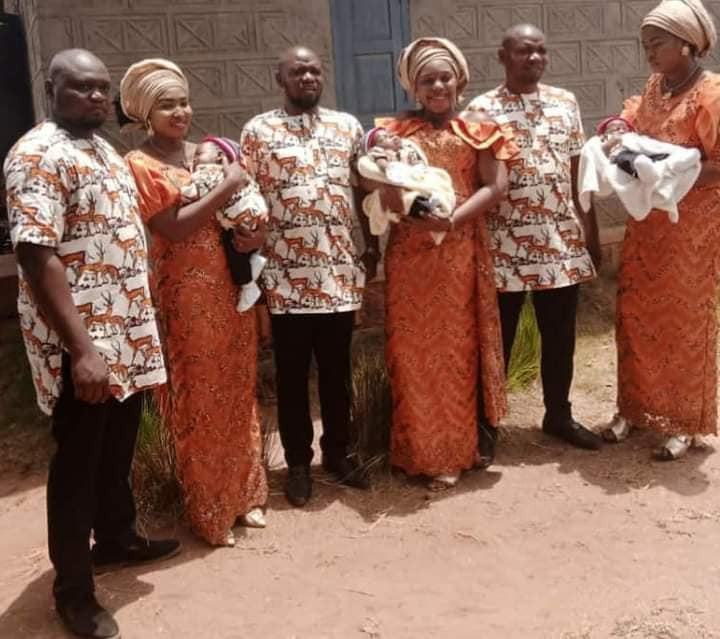 Triplets Who Married Same Day In Enugu, Welcome Baby Boys Within Same Period [Photos] 4