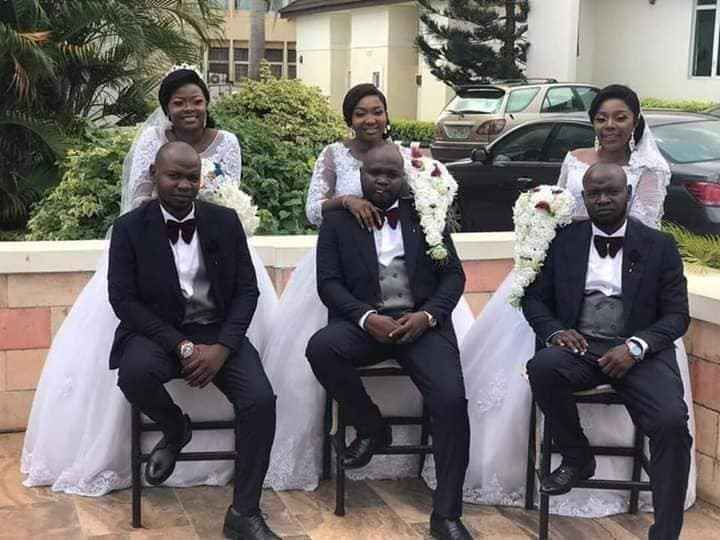 Triplets Who Married Same Day In Enugu, Welcome Baby Boys Within Same Period [Photos] 3