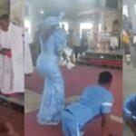 Disabled Man Dances To Altar With His Wife To Dedicate Their Newborn Baby In Delta [Video] 27
