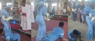 Disabled Man Dances To Altar With His Wife To Dedicate Their Newborn Baby In Delta [Video] 24