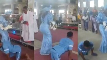 Disabled Man Dances To Altar With His Wife To Dedicate Their Newborn Baby In Delta [Video] 10