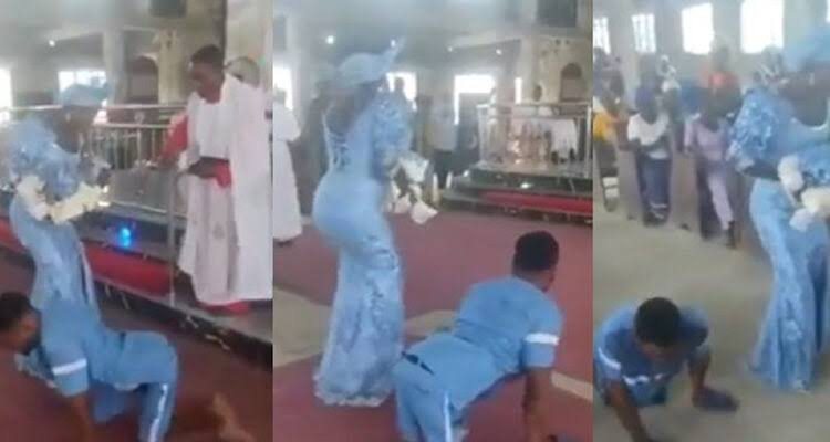 Disabled Man Dances To Altar With His Wife To Dedicate Their Newborn Baby In Delta [Video] 1