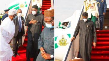 President Buhari Returns To Nigeria After UK Medical Trip [Photos] 3
