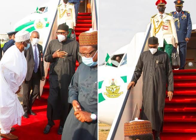 President Buhari Returns To Nigeria After UK Medical Trip [Photos] 1