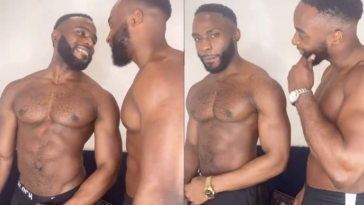 Doyin Okupe's Gay Son, Bolu Shares Loved-Up Video With His Handsome Boyfriend, Mfaomé 3