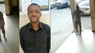 Dismissed Police Officer Caught On CCTV Stealing Phone From A Police Station In Benue [Video] 7