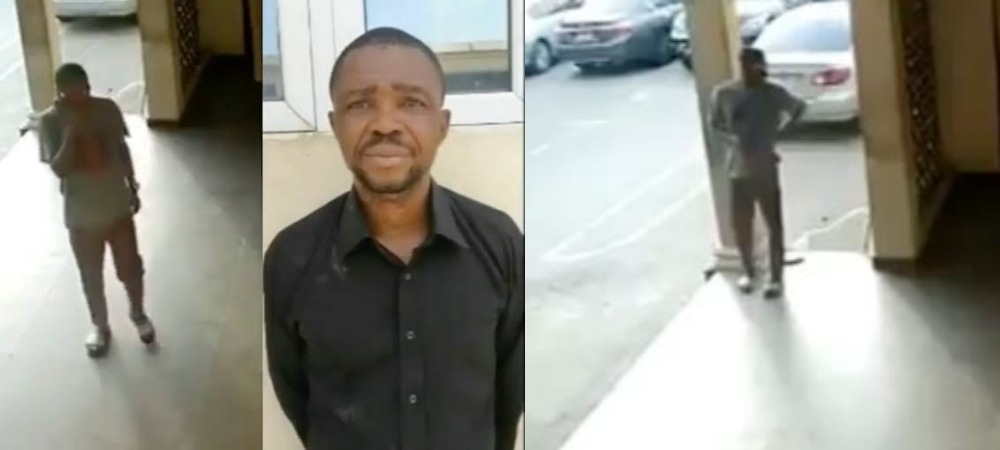 Dismissed Police Officer Caught On CCTV Stealing Phone From A Police Station In Benue [Video] 1