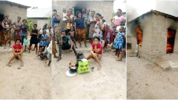 Woman Sets Her Boyfriend's House On Fire Over A LIttle Misunderstanding In Benue [Photos] 3